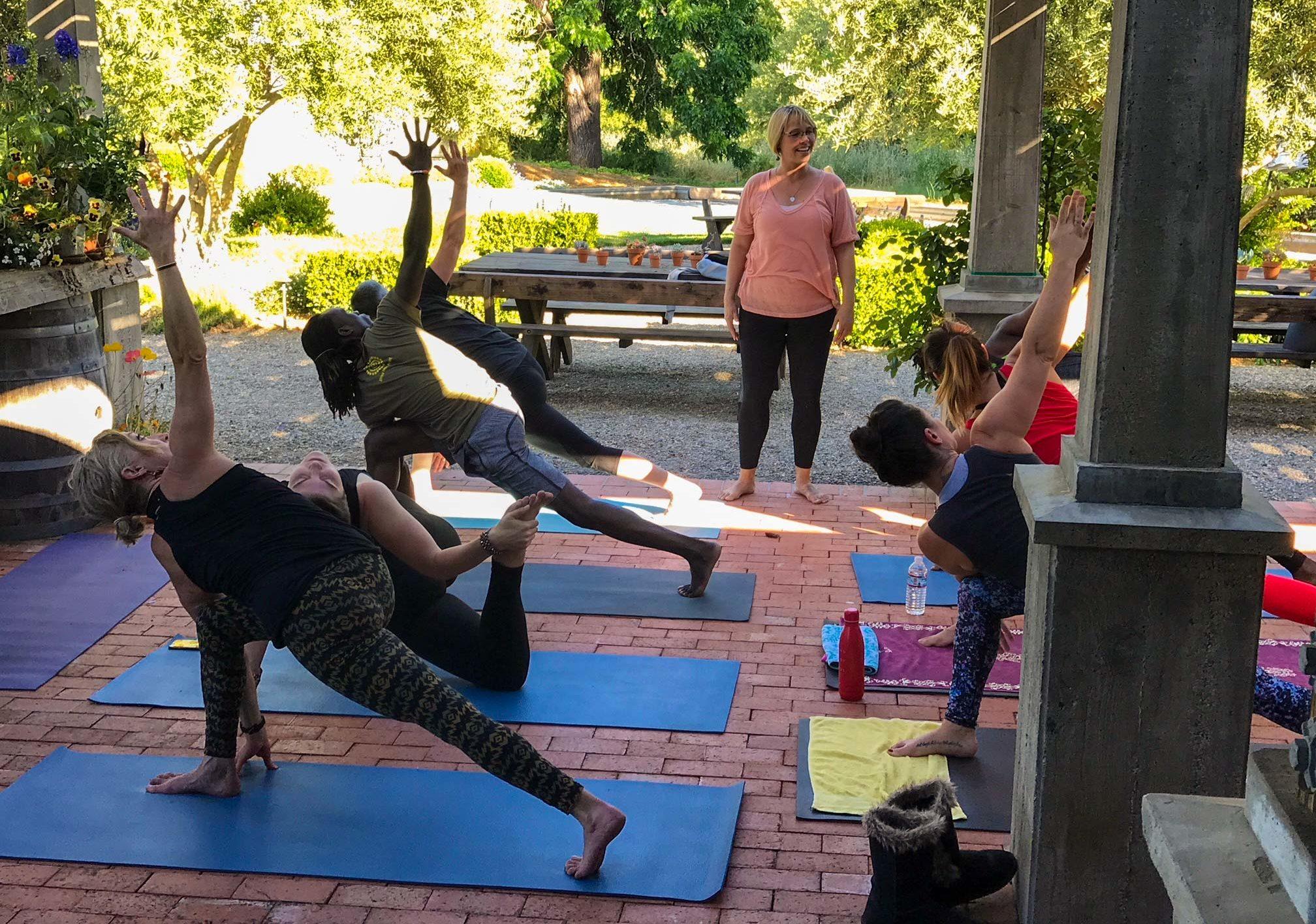 Yoga at the Vineyard